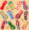 Summer sandals vector