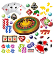 Casino set vector