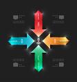 Modern infographics workflow arrows diagram vector