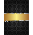 Black abstract texture and golden label vector