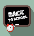 Back to school title on blackboard vector