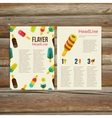 Abstract brochure flyer design template stylish vector