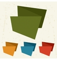 Abstract retro origami banners and speech bubbles vector