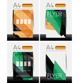 Abstract flyer - brochure templates set vector