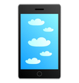 Smartphone in cloud vector
