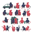 Large old people collection vector