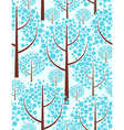 Winter forest - seamless background vector
