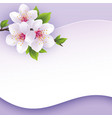 Greeting or invitation card with branch of sakura vector