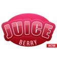 Label for berry juice bright premium design vector