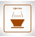 Brown coffee cup made in modern flat design cafe vector