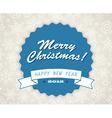 Simple blue vintage retro christmas card vector