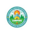 Camping - enthralling adventures - mountain vector