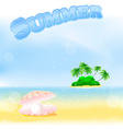 Summer tropical island vector
