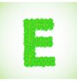 Grass letter e vector