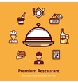 Restaurant concept vector