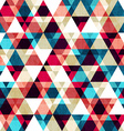 Retro triangle seamless texture with wood effect vector