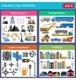 Industry map elements vector