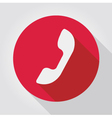 Phone icon red flat design vector