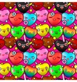 Colorful cute cartoon seamless pattern vector