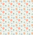 Cute circle flower pattern on pastel color vector