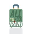 Single luggage of traveler vector