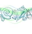 Sea shells seamless pattern vector