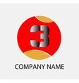 Abstract number 3 logo symbol icon vector