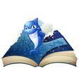 Smiling shark book vector