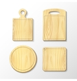 Set wooden cutting board vector