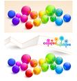Colored bubbles vector