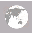 World globe  background for communication vector