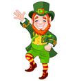 Lucky dancing leprechaun vector