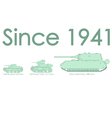 World war two tanks vector