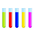 Tubes with colored liquid vector