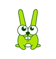 Green rabbit sign vector