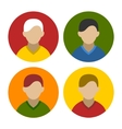 Colorful businessman userpics icons set in flat vector