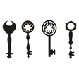 Keys silhouette antique keys vector
