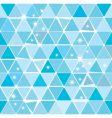 Bright blue winter triangle pattern vector