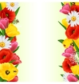 Colorful flower border vector