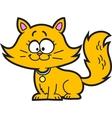 Cartoon kitten vector
