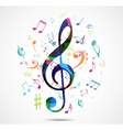 Abstract background colorful music notes vector