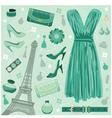 Paris fashion set vector