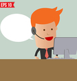 Cartoon business man receive the call - - ep vector