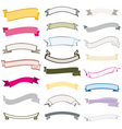 Set of design ribbons banners vector