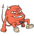 Cartoon red devil vector