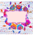 Grunge colorful flowers background eps 8 vector