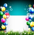 Birthday background with balloon and place for tex vector