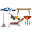 Outdoor objects vector
