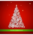 Snowflakes christmas tree vector