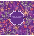 Colorful garden plants frame seamless pattern vector